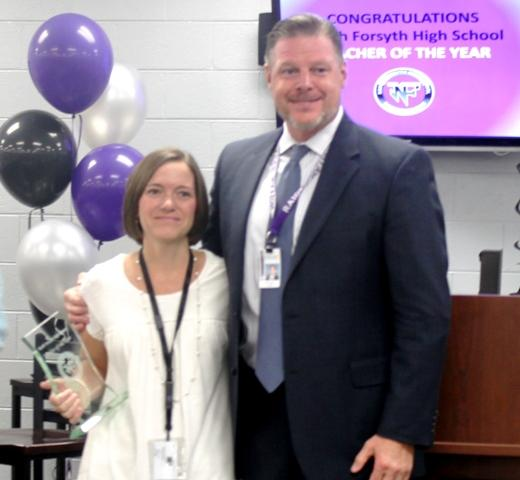 Congratulations to NFHS Teacher of the Year Ms. Swafford!