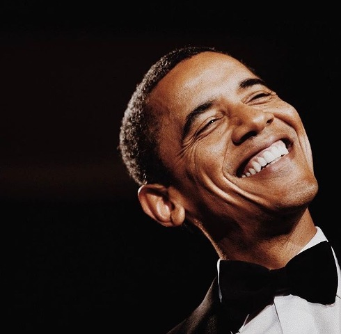 This photo was taken by a Journalist of Chicago Tribune at the Inaugural Ball. This photo captures Obama's free spirit and consistent happy outlook on life in spite of all the political drama.
