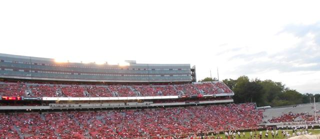 Overview of Sanford Stadium at the University of Georgia