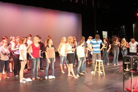 Thespians rehearsed for