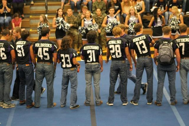 The seniors on the Raider Football Team were chiefly honored Friday before North's stunning football game later that night. These seniors led North to a 31-0 victory over the Central Forsyth Bulldogs.