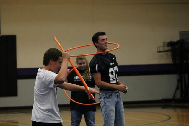 North's students took to the court in an effort to earn their place in the spotlight during the hoola hoop challenge.