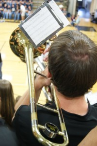 The band was just one part of the celebration November 8th. Amongst the speeches and honors given, members of the Wind Ensemble played The Star-Spangled Banner, America the Beautiful, and honored veterans by playing Armed Forces Medley.