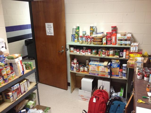 The food pantry is almost full thanks to the generous donations of the North Forsyth community.