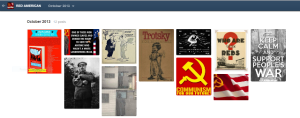 "A look into the archive of one of the many blogs I have observed, the URL being ""red-american"", if anybody might be curious to witness one small example of this odd and sudden surge of disillusioned socialists."