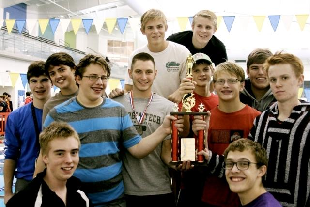 NFHS BOYS TEAM with 2nd place trophy