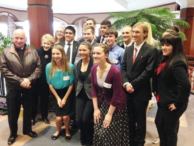 There are twelve members on North Forsyth's Mock Trial team, but they divide evenly into two teams. Every practice both teams carry out a different case.
