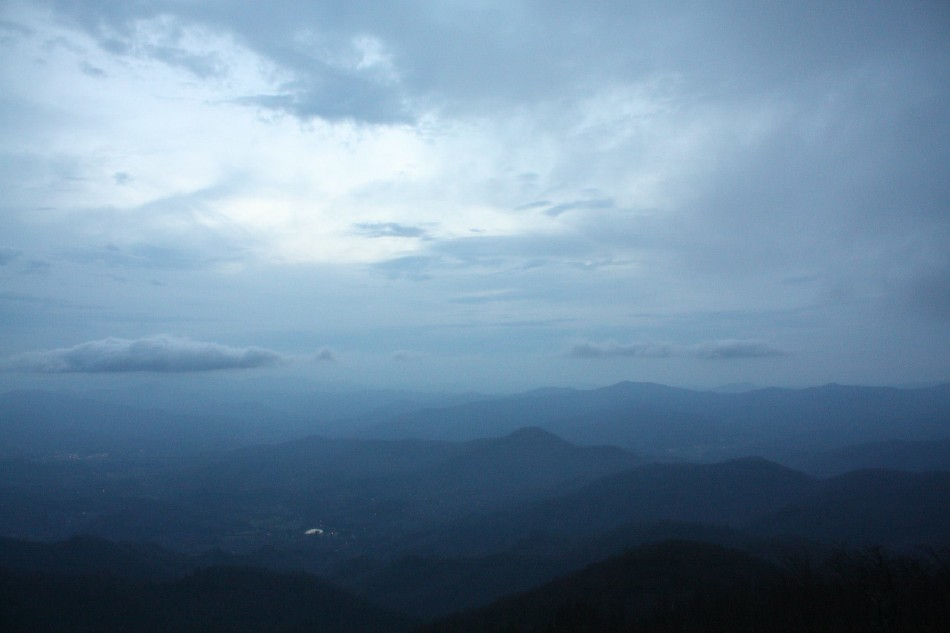 The northern mountains of Georgia are a spectacular sight no matter what type of weather covers them. Despite the heavy wind, light cloud cover, and forty degree temperature, the view over Georgia still demands appreciation.