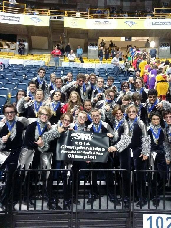 After all of their hard work, these committed students definitely deserved their awards.  Congratulations to our Indoor Drumline on bringing home the gold!