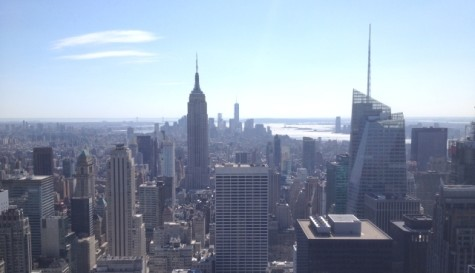 A view of New York City from the Top of the Rock building.
