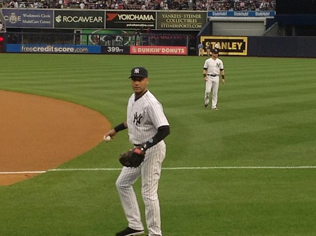 From the stands we stare as Jeter does his magic with the baseball.