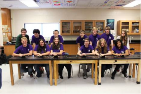 The NFHS Academic Team practices after school, preparing for their upcoming competitions. Photo used with permission by Briana Brinkman