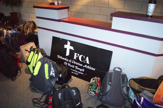"The FCA ministry at North is a church-like service, complete with prayer and a sermon. ""[It is] sort of like going to church twice a week…"" says Freshman Chase Merberger."