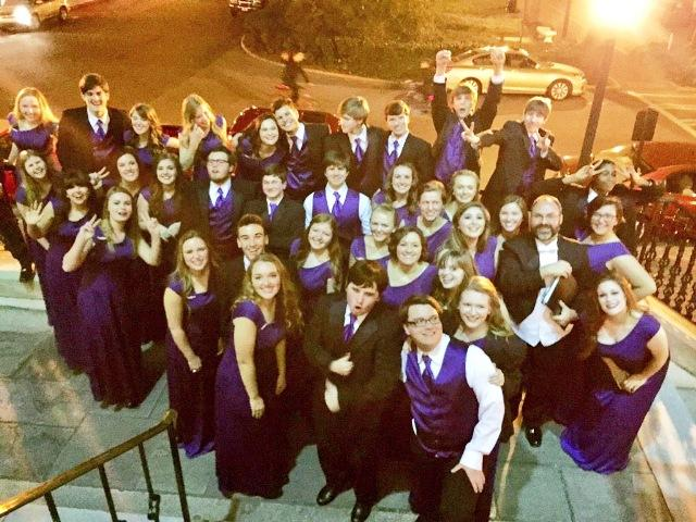 North Forsyth Chamber Singers pose for a picture after they perform at Georgia Music Educators Association in Savannah!