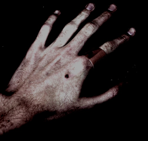 A pair of hands can tell a story; some happy, some dark.