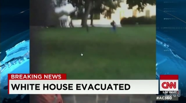 "Omar Gonzalez, an armed veteran, runs through the White House lawn after jumping a fence and evading security officials.  An off-duty agent ended the chase by tackling the man inside the building.  ""It's painful to leave as the agency is reeling from a significant security breach,"" former director Julia Pearson said about the incident.  Photo taken from CNN's YouTube channel."