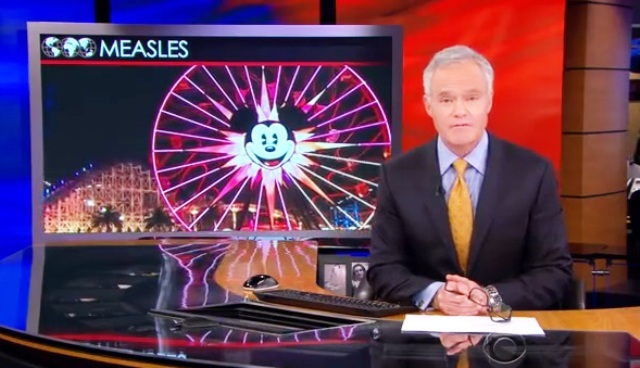 CBS Evening News shares their story on the outbreak of the measles, which started in the Disney Land theme park in Orange County, California.