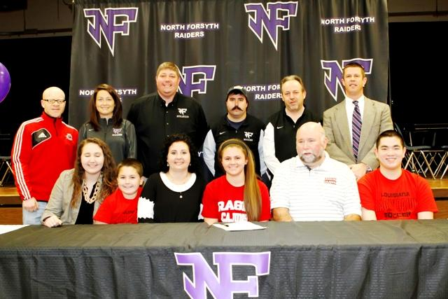 Tiffany Raygor, a senior, signed to the University Louisiana Lafayette for a soccer scholarship. Photo used with permission from Nathan Turner.