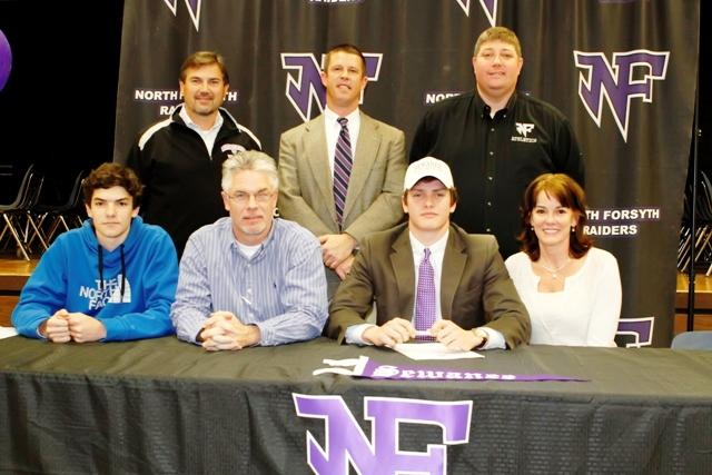 Senior Brinley Rhys signed to Sewanee University in Tennessee for a football scholarship. Photo used with permission from Nathan Turner.