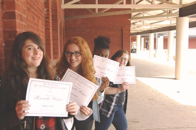 """I love the scholastic awards because they recognize the students talents individually, and I'm very proud and blessed to work with such amazing writers everyday"" Mrs. Rose.  Several students were recognized in this year for their written pieces, showing the amazing talent that North Forsyth has to offer."
