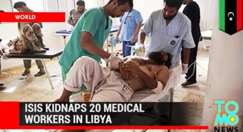 "Islamic State militants force captured hospital workers to treat them after an attack on Iba Sina Hospital on Monday, March 16. The militants invaded the hospital to capture the hospital workers because they needed medical aide, while performing terrorist attacks in Sirte. A hospital official said, in an interview with CNN, that ,"" The militants cannot go far, with ISIS militants ordering them not to leave Sirte."""