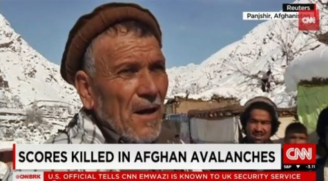 Local Afghani resident explains how the avalanches affected his home and family. The avalanches continue to take a huge toll on the Afghani homes and population.