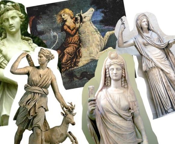 Pictured above (left to right): Front row – Medea, Artemis, Persephone, Cassandra. Back row - Europa.