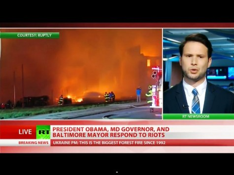 Headline: Freddie Gray's Death Sparks Riots; Baltimore in a State of Emergency