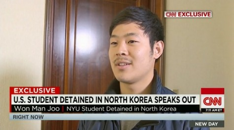 """I hope that I will be able to tell the world how an ordinary college student entered the DPRK illegally, but, however, with the generous treatment of the DPRK, I will be able to return home safely,"" Won-moon Joo said."