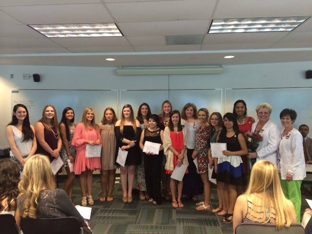 These are the proud young women recently awarded for their efforts this year. NFHS offers dual enrollment in classes such as this for all students.