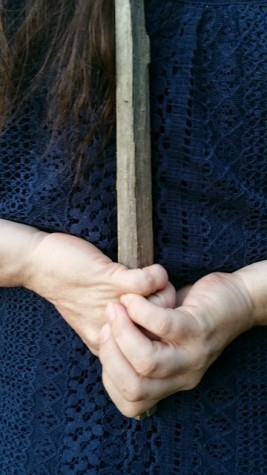 A stake is a good weapon of defense against vampires. The problem with this is that you have to have the strength to drive the stake hard enough, and actually hit the heart, because if you miss, you are in a lot of trouble, my friend.