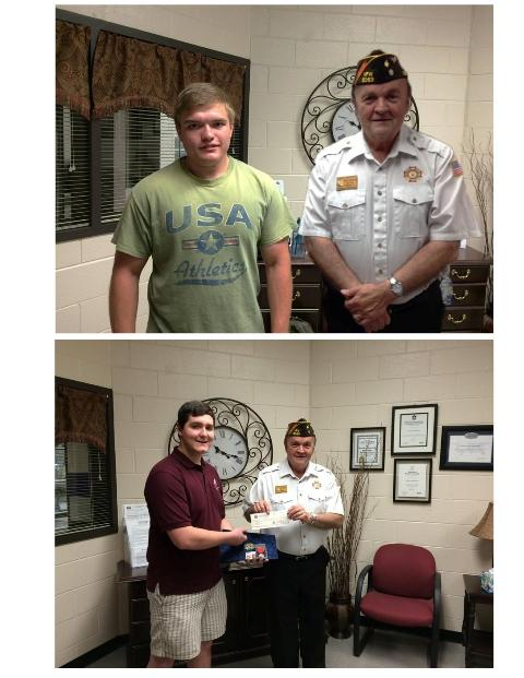 Noah (Top), and Conrad (Bottom), take a photo with one of the US Veterans.