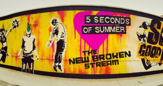 This is a wall that a 5 Seconds of Summer fan spray painted in London, England for the online competition.