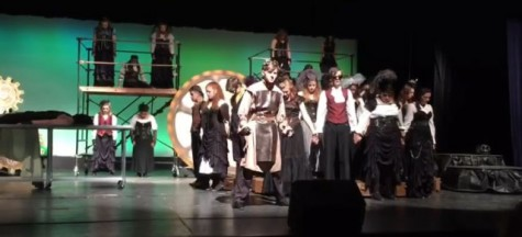 The Advanced Musical Theater class prepares for the Region One Act competition. Junior, Brody Grant, stars as Victor Frankenstein and leads the cast into the reincarnation of man.