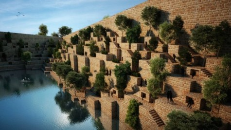 4.As a throwback to the olden days, Sanjay Puri's Reservoir takes its design from the ancient step wells of India.  Each level of this office complex acts as another step descending into the reservoir below, and is built with cheap and efficient sandstone from the surrounding regions.