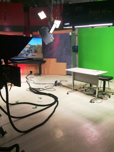 The broadcast room is home to many students at Grady College and hosts live local news shows every week day with a special dedication to local Athens sports on Fridays.