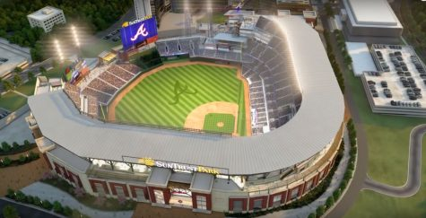 The Braves' new park, SunTrust Stadium, is set to be ready on opening day 2017. Photo from this video: https://youtu.be/AEj6ZUOqwcI