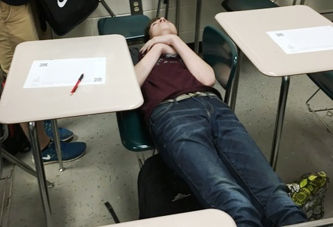 This picture accurately depicts Nate Shinkle at his death bed during standardized testing; this is how all of us students feel as well.