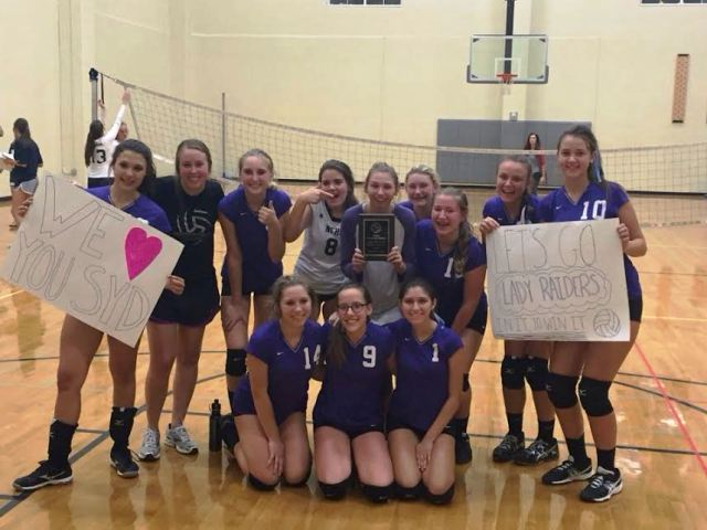 The+freshmen+volleyball+team+supports+each+other+at+practice+as+they+prepare+for+the+West+Forsyth+game.+They+are+confident+in+each+other%2C+and+they+have+great+enthusiasm+about+winning.++