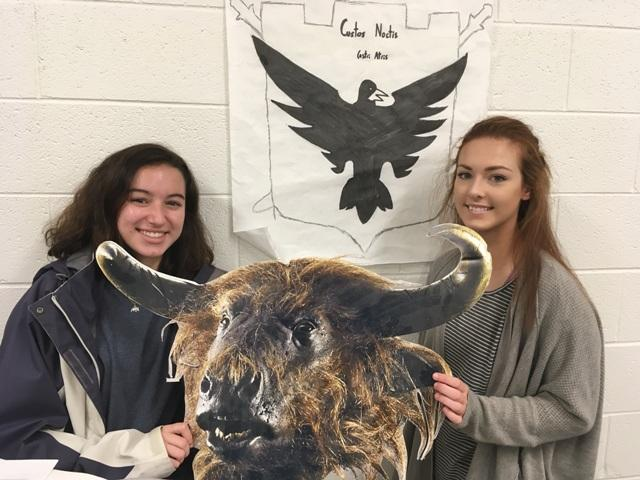"Mackenzie Cary, President, and Morgan Kilpatrick, Vice President, both worked to arrange the event scheduled in Mr. Hodges' classroom, Room 343. ""It's going to be a cha-RIOT,"" senior Mackenzie said, laughing."