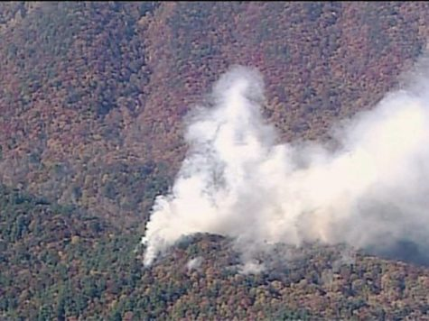 The photo above is an aerial view of the fire and the amount of smoke being produced. Photo credits to the 11alive news team.