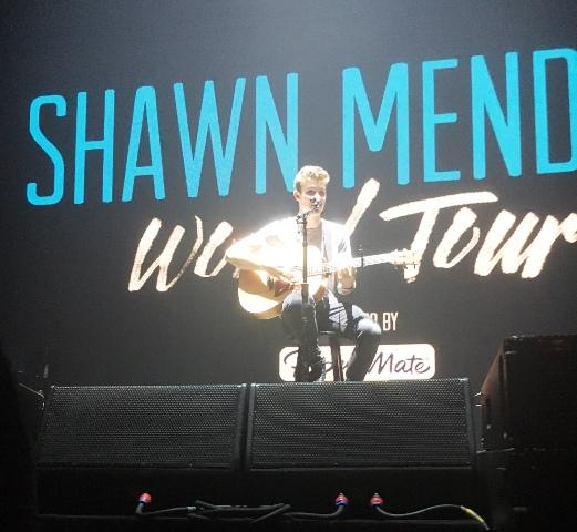 Shawn Mendes performs a few songs during an intimate soundcheck before the Atlanta show of his recent world tour on July 17 at the Fox Theater.