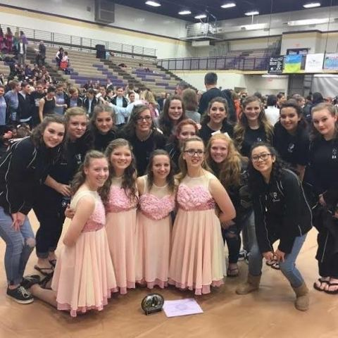 "The Winter Guard last year performed their show ""Lovely"" at competition last year. The group gracefully danced along to the peaceful song at competitions, exhibitions, and practices."