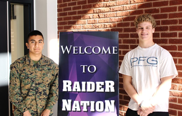 Bryan Garcia (left) and Shaun Herock (right) will attend the U.S. Naval Academy in Annapolis, Maryland next year. These two set another example of hardworking Raiders consistently exceeding expectations.