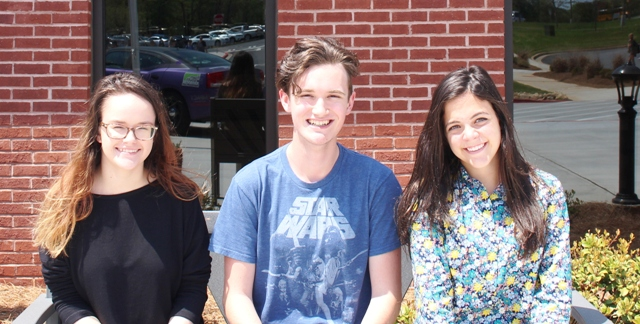 Claire Pearson (Left), Jack Kern (Middle) and MaryKate Schwaemmle (Right), will be heading to GHP this summer at Berry College for science, theater and social studies, respectively.