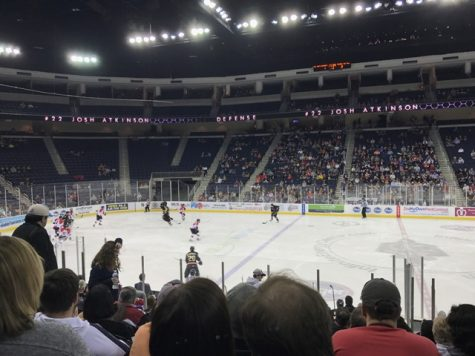 The two ECHL teams in action at the Infinite Energy Center on Sugarloaf Parkway.