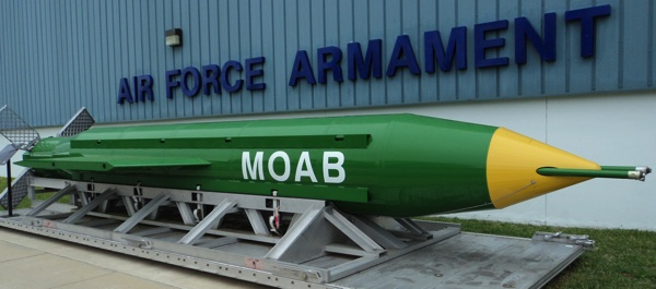 In the photo above courtesy of wearechange.org, the Mother of All Bombs (MOAB) was dropped on Afghanistan, potentially causing World War III. But was it really necessary?