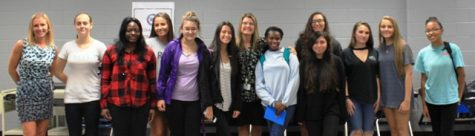Students and teachers at first meeting of brand new charity based club at North Forsyth High School, Live to Give.