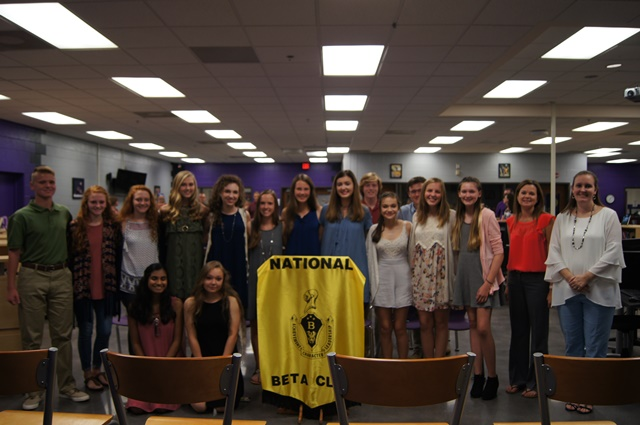 Many+students+were+inducted+into+both+National+Honor+Society+and+Beta+Club+Wednesday%2C+Sept.+20.+NHS+photo+used+with+permission+by+Steve+Angell.