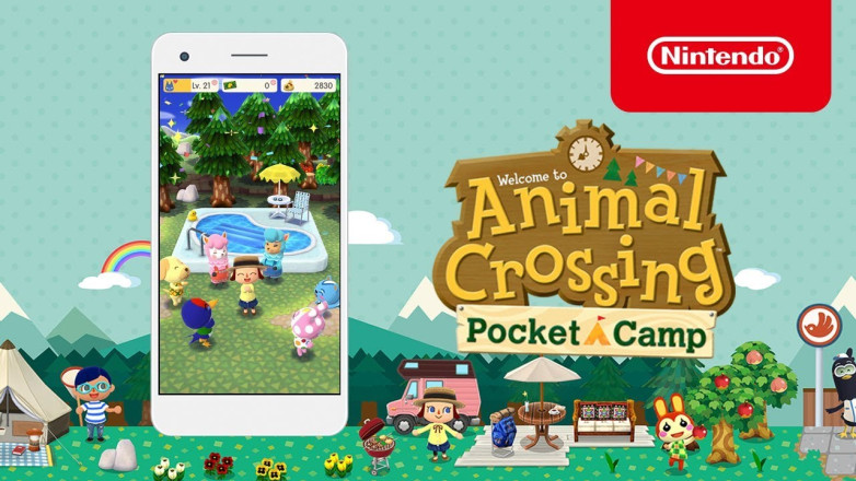 "The new version of the game ""Animal Crossing"" has been released on the Apple Store and everyone is downloading it."
